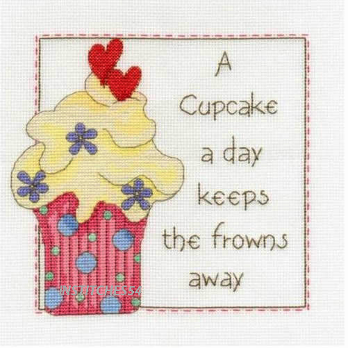 A Cupcake A Day Sampler Cross Stitch Kit
