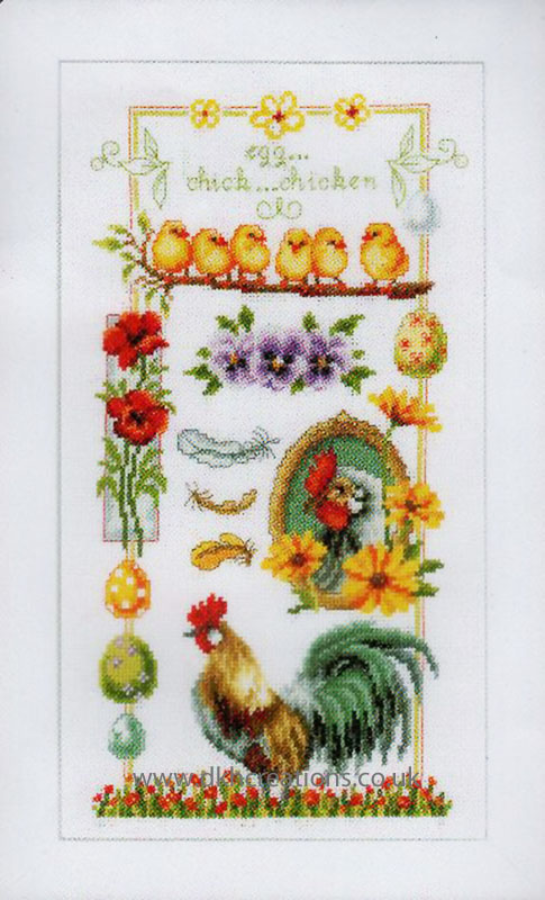 About Chickens Cross Stitch Kit