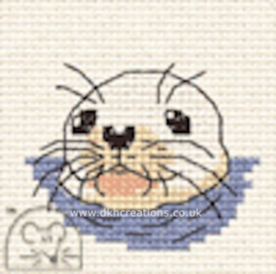 Baby Seal By The Seaside Cross Stitch Kit
