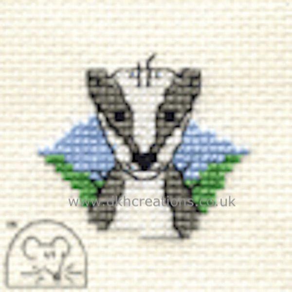 Bartholomew Badger Cross Stitch Kit