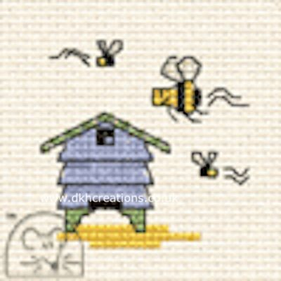 Beehive Tiddlers Cross Stitch Kit
