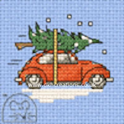 Beetle Collecting Tree Cross Stitch Kit