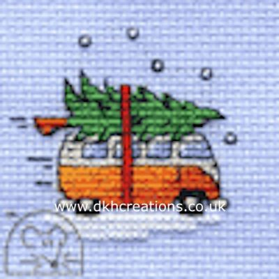 Camper Van Collecting The Tree Cross Stitch Kit