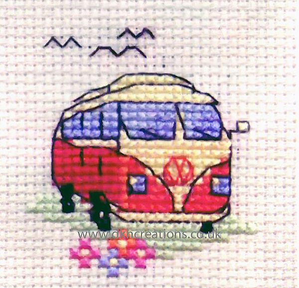 NEW BOTHY THREADS VW CAMPER VAN FUN AT THE SEASIDE COUNTED CROSS STITCH KIT