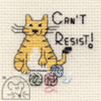 Can't Resist Biscuit The Cat Cross Stitch Kit