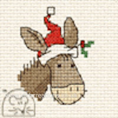 Christmas Donkey Cross Stitch Kit