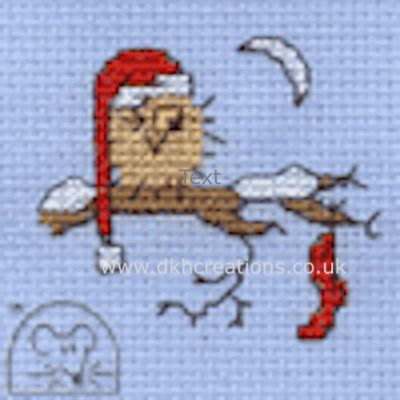 Christmas Eve Owl Cross Stitch Kit