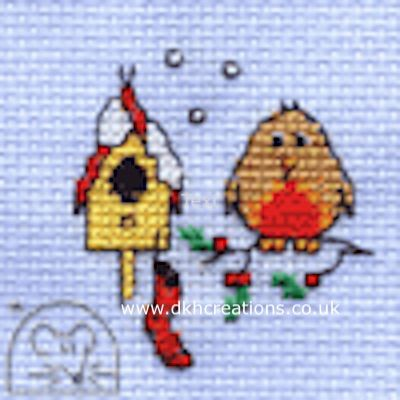 Christmas Eve Robin  Cross Stitch Kit