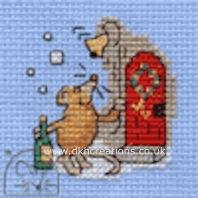 Christmas Party Mouse Cross Stitch Kit