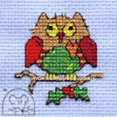 Christmas Patchwork Owl Cross Stitch Kit