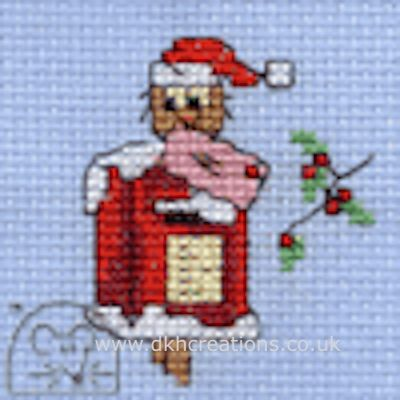 Christmas Post Owl Cross Stitch Kit