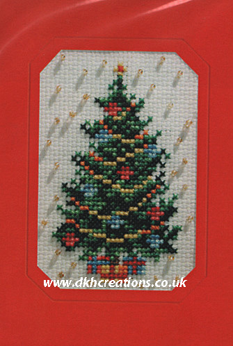 Christmas Tree Greeting Card Cross Stitch Kit