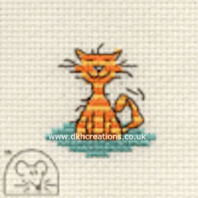 Contented Cat Tiddlers Cross Stitch Kit