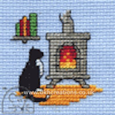 Cosy Woodburner Cross Stitch Kit