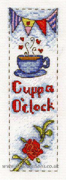 Cuppa O'Clock Bookmark Cross Stitch Kit
