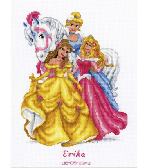 Disney Princesses With Horse Cross Stitch Kit