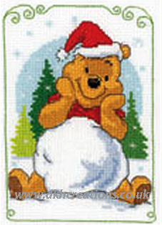 Disney Winnie The Pooh Playing With Snow Cross Stitch Kit
