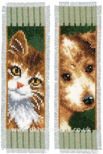 Dog And  Cat Bookmark Cross Stitch Kit