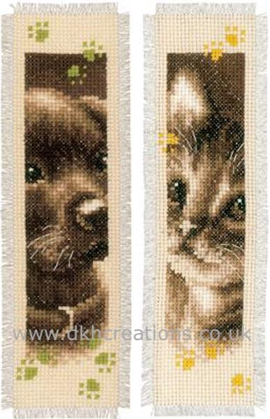 Dog & Cat Bookmark Cross Stitch Kit