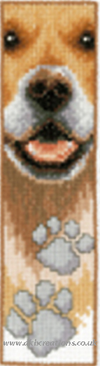 Dog Footprint Bookmark Cross Stitch Kit