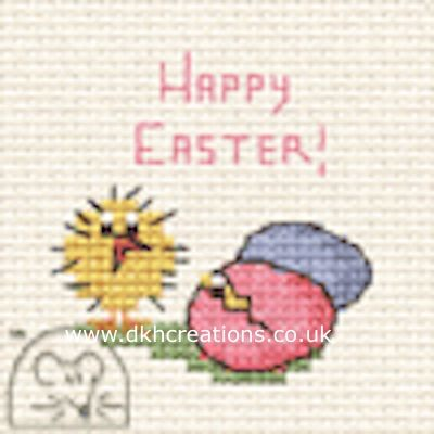 Easter Chick And Eggs Card Cross Stitch Kit