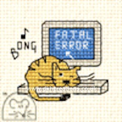 Fatal Error Biscuit The Cat Cross Stitch Kit