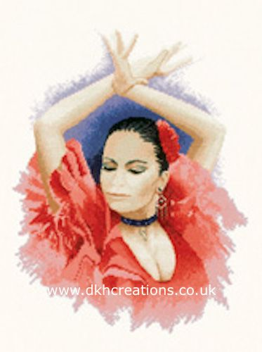 Flamenco Dancer Cross Stitch Kit