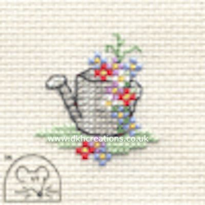 Floral Watering Can Tiddlers Cross Stitch Kit