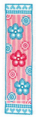 Flowers and Stripe Bookmark Cross Stitch Kit