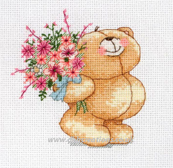 Forever Friends Floral Bouquet Cross Stitch Kit