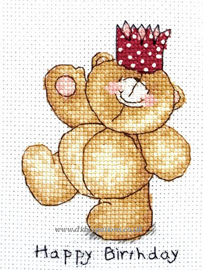 Forever Friends Happy Birthday Cross Stitch Kit