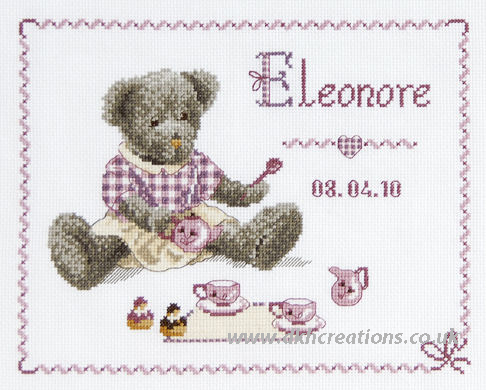 Funny Bears First Name Sampler Cross Stitch Kit