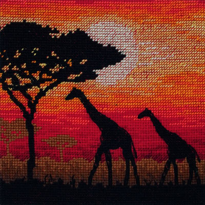 Giraffe Silhouette Cross Stitch Kit