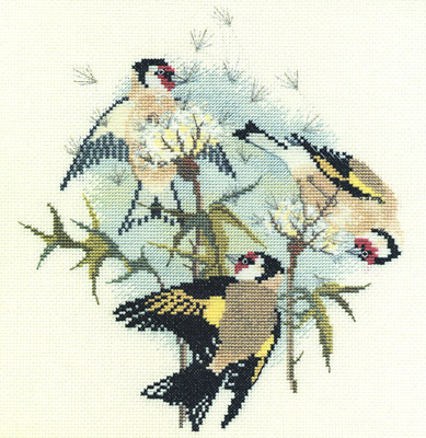 Goldfinches and Thistles Cross Stitch Kit