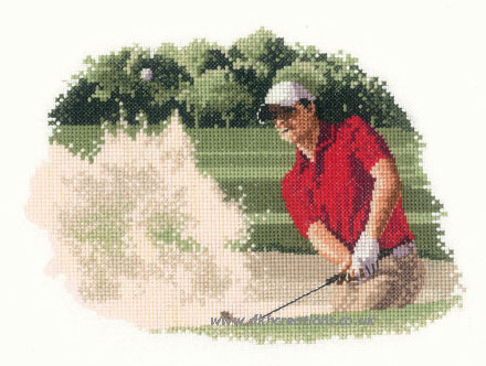 Golfer Bunker Cross Stitch Kit