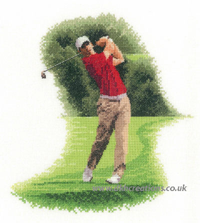 Golfer Fairway Cross Stitch Kit
