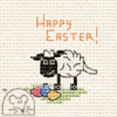 Happy Easter Lamb Card Cross Stitch Kit