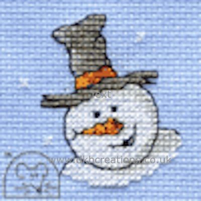 Happy Snowman Cross Stitch Kit