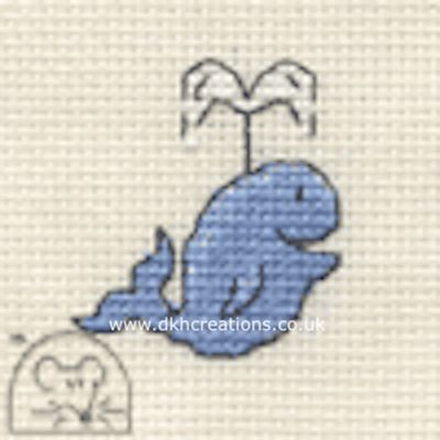 Happy Whale Tiddlers Cross Stitch Kit