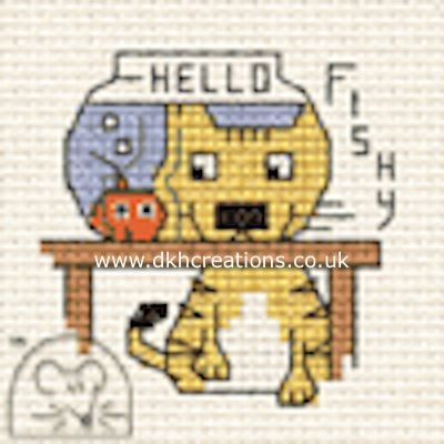 Hello Fishy Biscuit The Cat Cross Stitch Kit