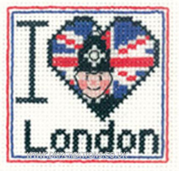 I Love London Mini Cross Stitch Kit