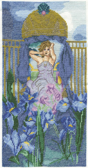 Iris Bower Cross Stitch Kit