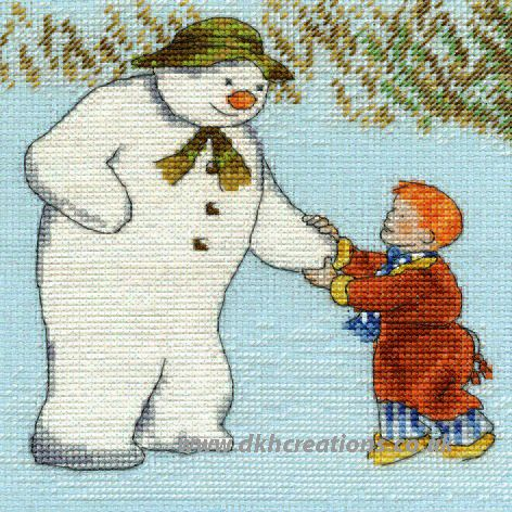 James And The Snowman  Cross Stitch Kit