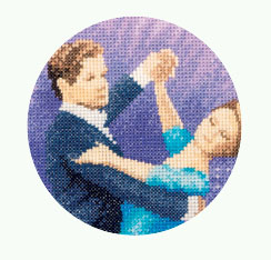 John Clayton Dancers Cross Stitch