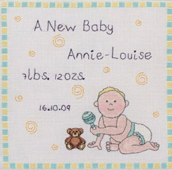 Jolly Nation Birth Sampler Cross Stitch Kit