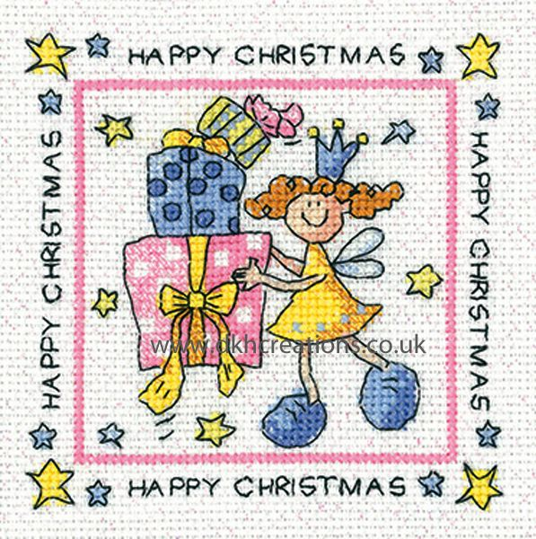Karen Carter Happy Christmas Greeting Card Cross Stitch Kit