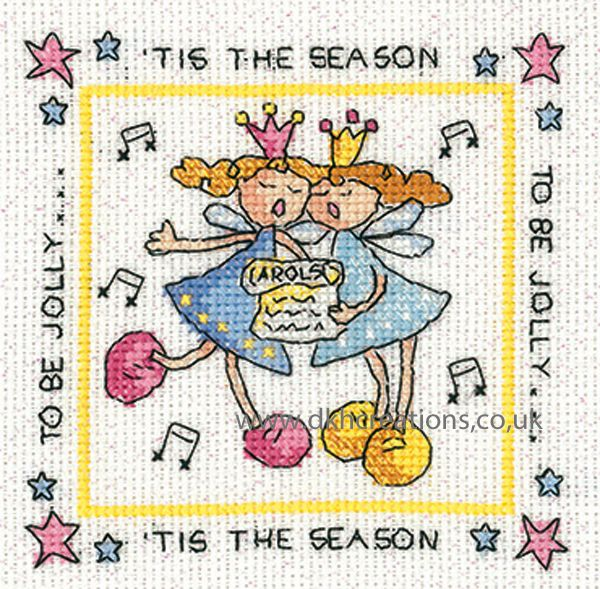 Karen Carter Tis The Season Christmas Greeting Card Cross Stitch Kit
