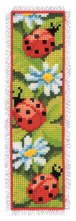 Ladybird and Daisies Bookmark Cross Stitch Kit