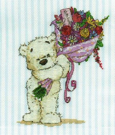 Lickle Ted With A Lickle Affection Cross Stitch Kit