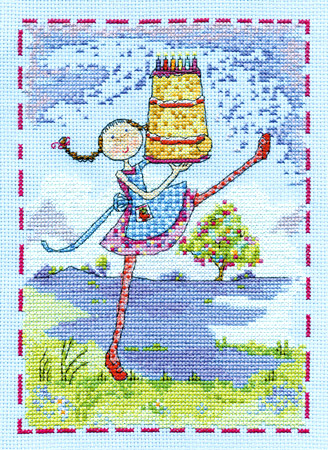 Lili Loves Wishes Cross Stitch Kit